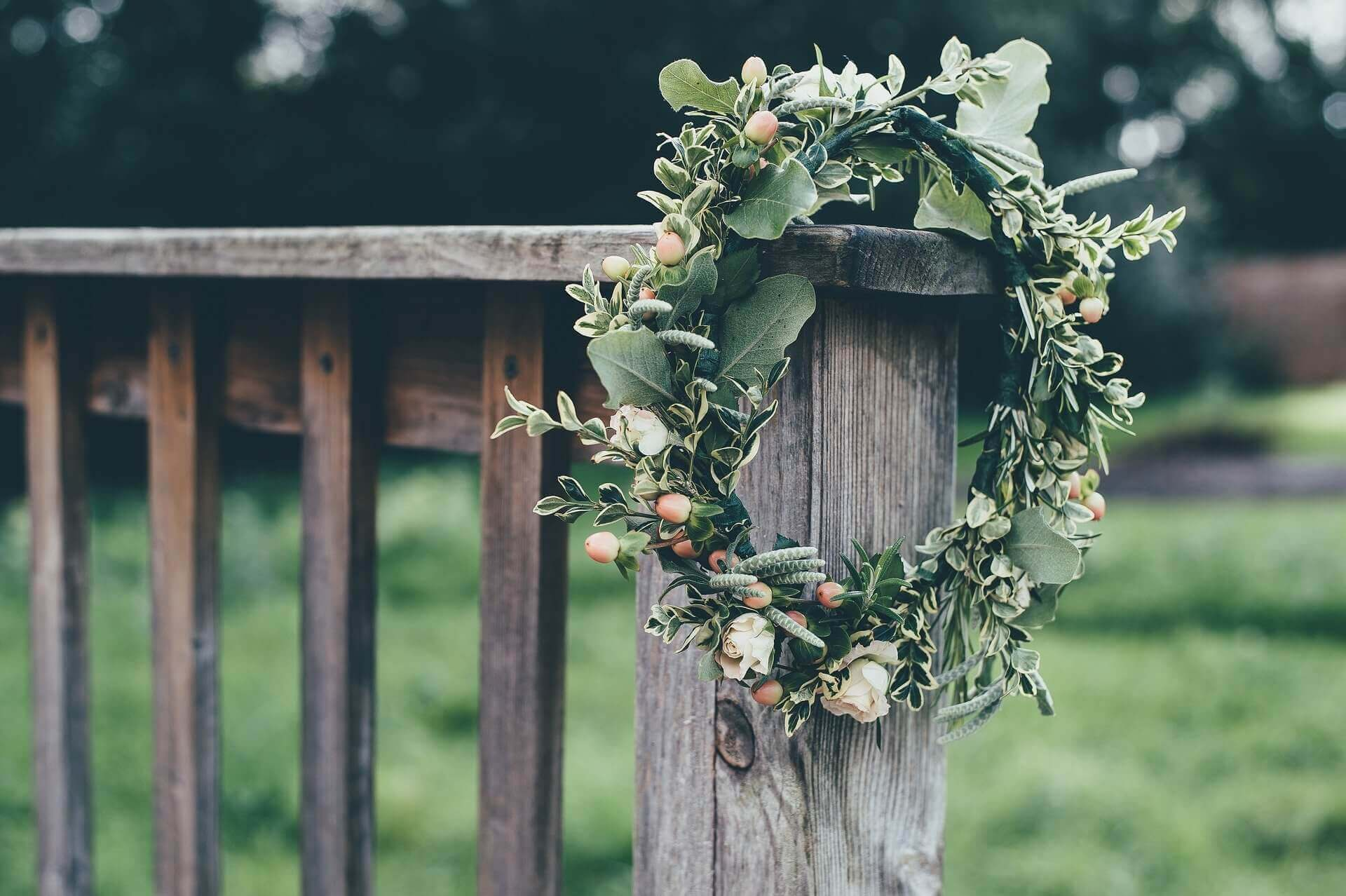 Foliage and Rose Flower Crown